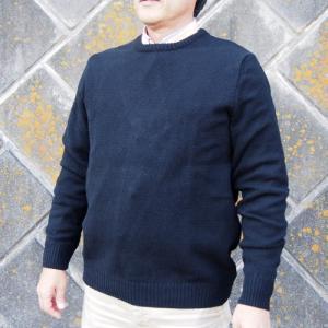 セーター メンズ クルーネック ラムウール ニット 羊毛 ウール 英国製 Paul James ポールジェームス クルーネックラムウールセーター ブラック|ammax