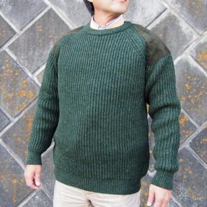 【Paul James 】1976COLLECTIONパッチセーター・グリーン(メンズ)|ammax