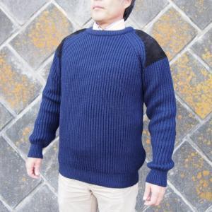 【Paul James 】1976COLLECTIONパッチセーター・ネイビー(メンズ)|ammax