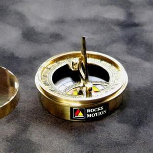 真鍮製コンパス&サンダイアル  インド製 日時計 ロックスモーション ROCKS MOTION ユニーク雑貨 メンズ|ammax