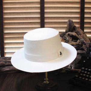パナマハット エクアンディーノ ボータ―コレクション ホワイト メーカー認定バッグ 証明書 ボックス付き|ammax