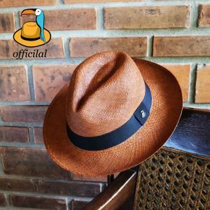 パナマハット パナマ帽子 メンズパナマ センスが光るブラウン エクアアンディーノ|ammax
