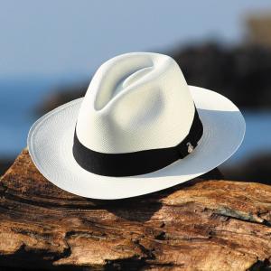 パナマハット エクアンディーノ クラッシック ホワイト ワイドブリム 粋なパナマ帽子 メーカー証明書 オフィシャルバッグ ボックス|ammax