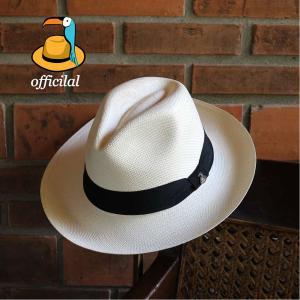 パナマハット エクアンディーノ クラッシック ホワイト ミディアムブリム メーカー証明書 オフィシャルバッグ ボックス|ammax