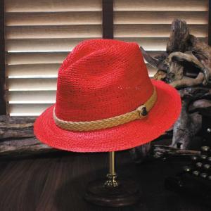 パナマハット エクアンディーノ Xフレッシュ レッド ミディアムブリム メーカー証明書 オフィシャルバッグ ボックス|ammax