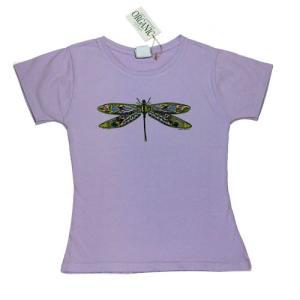 レディース Tシャツ リバティーグラフィックス ドラゴンフライダンス オーガニック シルクプリントTシャツ|ammax