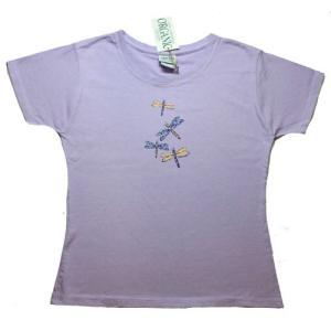レディース Tシャツ リバティーグラフィックス アースドラゴン オーガニック シルクプリントTシャツ|ammax