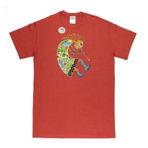メンズ Tシャツ リバティーグラフィックス アースアート ココベリ シルクプリント(EARTH ART KOKOPELLI)|ammax