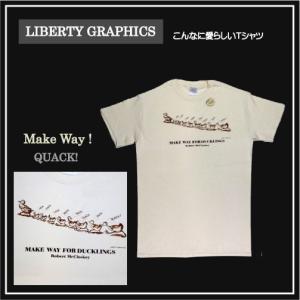 メンズ Tシャツ リバティーグラフィックス メイクウェイ クワック シルクプリントTシャツ|ammax
