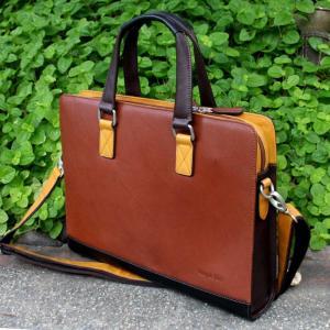 革ブリーフケース 革鞄 マジックジャーナル ペニシュミントレザーバッグ|ammax