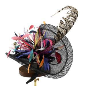 ヘッドドレス 礼装帽子 シナマイ帽子 ブラックバード ドレスハット 髪飾り|ammax