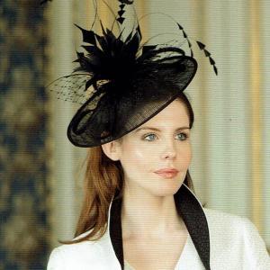 ドレスハット 礼装帽子 シナマイ帽子 フィールドスタイル ブラック 髪飾り|ammax