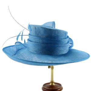 ヘッドドレス 礼装帽子 シナマイ帽子 サファイヤ ドレスハット|ammax