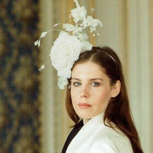 ヘッドドレス 礼装帽子 シナマイ帽子 ホワイトローズ お洒落髪飾り|ammax