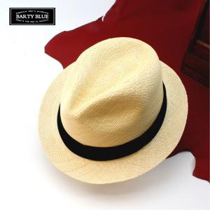 パナマ帽 夏の主役パナマハット メンズ バーティーブルー バーティーアップ 本物は胸を張って歩ける...