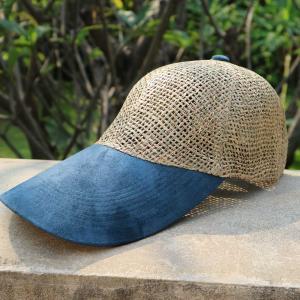 メッシュキャップ 麦わら帽子 ツイング ブルー ロングタイプ|ammax