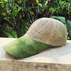メッシュキャップ 麦わら帽子 ツイング オリーブ ロングタイプ|ammax