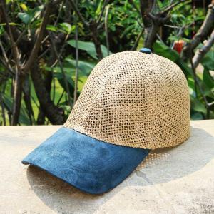 メッシュキャップ 麦わら帽子 ツイング ブルー|ammax