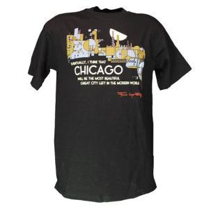 メンズ Tシャツ リバティーグラフィックス フランクロイド シカゴ(Chicago)|ammax