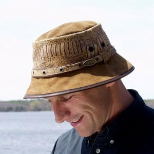 レザーハット メンズ革帽子 オーバーランダー ニューブーマハット オーストラリア製|ammax