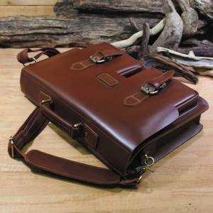 レザーバッグ 革ブリーフケース 革ビジネスバッグ テックサス ペニシュミント革鞄 ammax