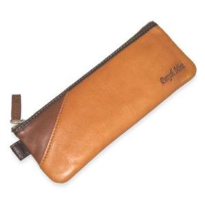 ペンケース メンズ 革 レザー 鞄 名入れ  ペニッシュミント ペンケース フラットタイプ 283|ammax