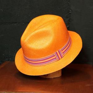 パナマハット 40%引き ラディカルウェーブパナマ帽子 サンセット カラー |ammax
