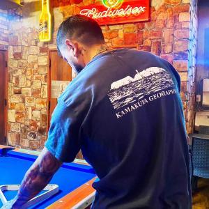 鎌Tシャツ 鎌倉 湘南のTシャツ  江の(ネイビー)バックプリント|ammax