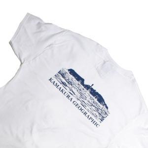 鎌Tシャツ 鎌倉 湘南のTシャツ  江の島(ホワイト)バックプリント|ammax
