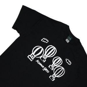 鎌Tシャツ 鎌倉 湘南のTシャツ YOYO バルーン ブラック|ammax