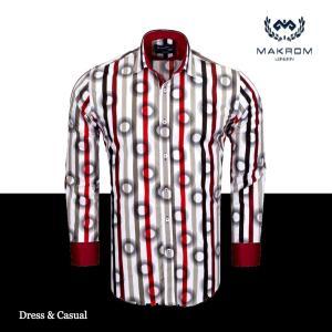 カラーシャツ ワイシャツ ドレスカジュアルシャツ マクロム アルバニー|ammax