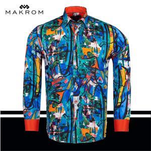 ジャングルマジック マクロスプリントシャツ 存在感1のカラーシャツ|ammax