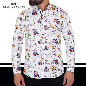 すっかりおなじみ お洒落な音符 マクロス ドレスシャツ NOTE 人気の逸品|ammax