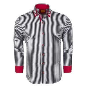 ドレス カジュアルシャツ マクロム カラープリントシャツ6493B|ammax