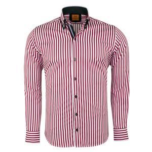 ドレス カジュアルシャツ マクロム カラープリントシャツ6493|ammax