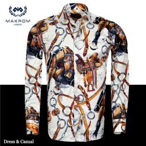 カラーシャツ ワイシャツ ジュアルシャツ マクロム ホースハーネス|ammax