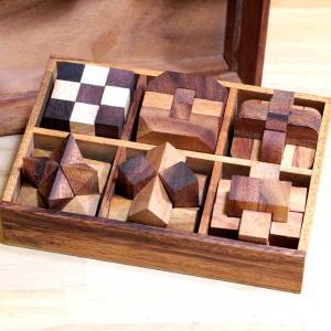 木製パズル 脳トレパズル ボケ防止グッズ Rocks Motion 6set ammax