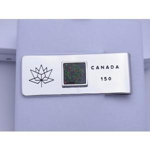カナダ 政府公認 カナダ建国 150周年記念 マネークリップ C150MC|ammolite-museum