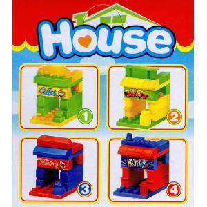 4種セット ブロックハウス 商店のブロック4個セット|amnetcity