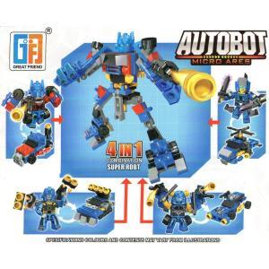 4種セット 合体ロボブロック 【レゴ互換】|amnetcity