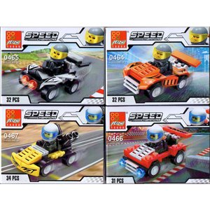 4種セット ブロックシリーズ チャンピオンレーサー 【レゴ互換】|amnetcity