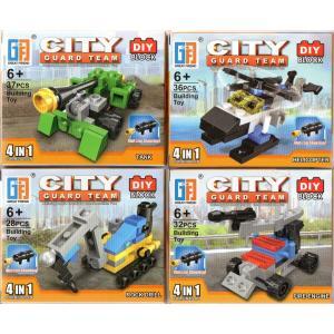 4種セット ブロックシリーズ 4種合体カー 【レゴ互換】|amnetcity