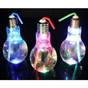 LEDで光る 電球ボトル 500ml wide 1個単位|amnetcity