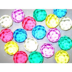 6色セット スーパーボール ダイヤモンドカット 49mm 6個入|amnetcity