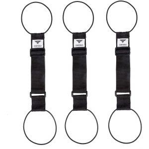 TABITORA(タビトラ) バッグとめるベルト 旅行用品/スーツケースベルト ブラック 5775c...