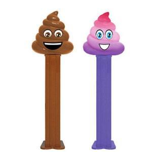 PEZ ペッツ  絵文字シリーズ、2018年版、ウンコ、厚足、2種セット、ルーズ Emoji's Poop|amoju