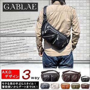 ボディバッグ ボディバッグ レザー メンズ バッグ GABLAE|amonduul