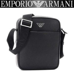 エンポリオアルマーニ EMPORIO ARMANI ショルダーバッグ メンズ バッグ 男性用 アルマーニ Y4M144 YAQ2E 81072 レザー ブラック 斜めがけバッグ|amonduul