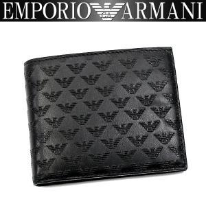 エンポリオアルマーニ EMPORIO ARMANI 財布 メンズ 二つ折り財布 YEM122 YC043 80001 男性用 アルマーニ|amonduul