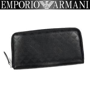 エンポリオアルマーニ EMPORIO ARMANI 財布 メンズ 長財布 ラウンドファスナー YEME49 YC043 80001 男性用 アルマーニ レザー|amonduul